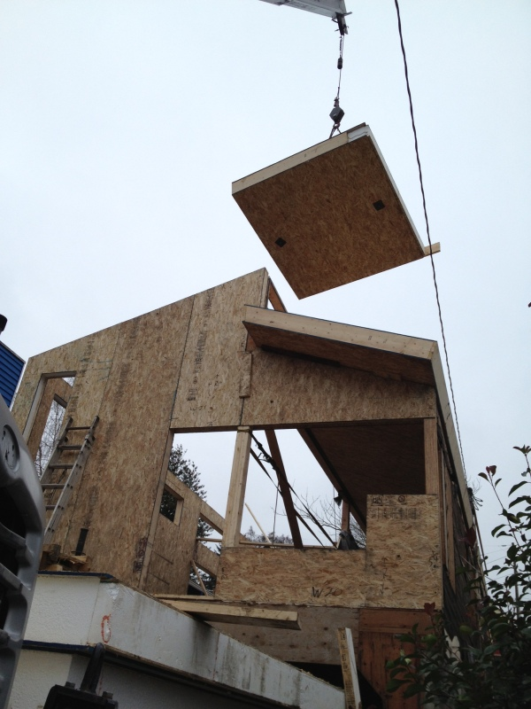 roof panel with crane
