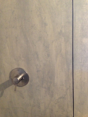 LD Arch Design: Blue View hardipanel showers | Photo by Parie Hines