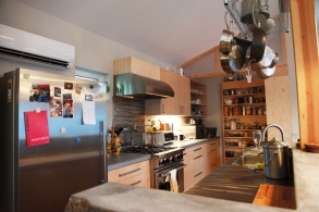 A view to the kitchen.