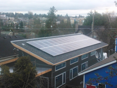 6.72 kW solar array. Photo by Becky Chan.