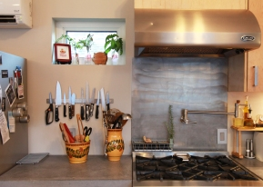 The kitchen is beautiful and highly functional.