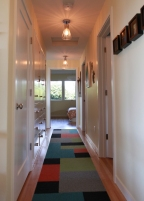 The front entry hall.
