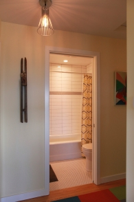 A view into the new guest bath.