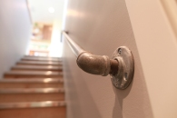"""The existing """"funky"""" handrails were reinstalled."""