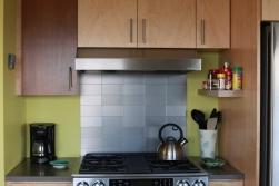 The stove area.