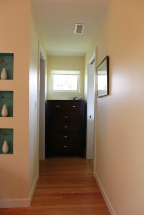 Hallway leading to master bath and closet