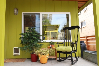 The back porch.