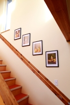 The stair gallery wall.