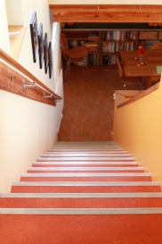 Stairs down from the home office.